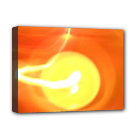 Orange Yellow Flame 5000 Deluxe Canvas 16  X 12  (framed)  by yoursparklingshop
