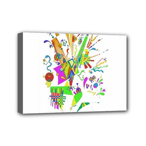 Splatter Life Mini Canvas 7  X 5  (framed) by sjart