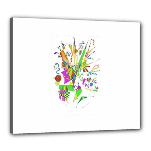 Splatter Life Canvas 24  X 20  (framed) by sjart