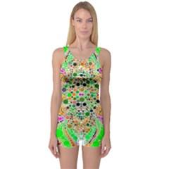 Florescent Abstract  Women s Boyleg One Piece Swimsuit by OCDesignss