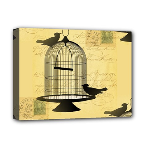 Victorian Birdcage Deluxe Canvas 16  X 12  (framed)  by boho