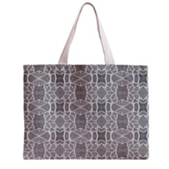Grey White Tiles Geometry Stone Mosaic Pattern Tiny Tote Bag by yoursparklingshop