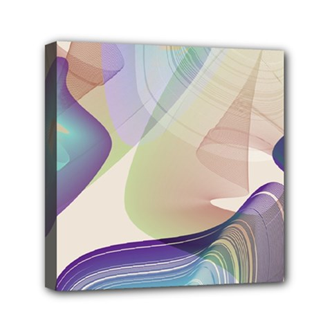 Abstract Mini Canvas 6  X 6  (framed) by infloence