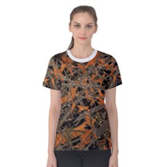 Intricate Abstract Print Women s Cotton Tee by dflcprintsclothing
