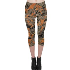 Intricate Abstract Print Capri Leggings  by dflcprintsclothing