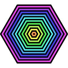 Rainbow Stripes Mini Folding Umbrella by ArtistRoseanneJones