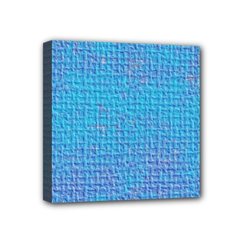 Textured Blue & Purple Abstract Mini Canvas 4  X 4  (framed) by StuffOrSomething