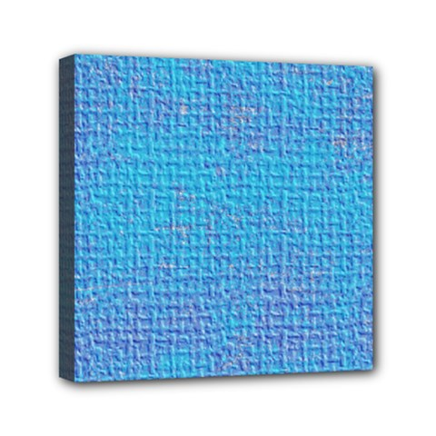 Textured Blue & Purple Abstract Mini Canvas 6  X 6  (framed) by StuffOrSomething