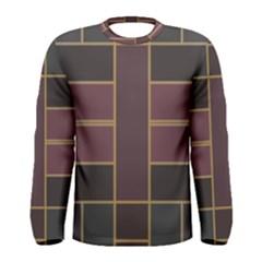 Vertical and horizontal rectangles Men Long Sleeve T-shirt by LalyLauraFLM