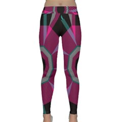 Striped hole Yoga Leggings