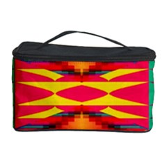 Colorful Tribal Texture Cosmetic Storage Case by LalyLauraFLM