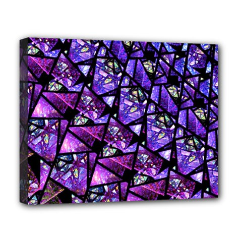 Blue Purple Glass Deluxe Canvas 20  X 16  (framed) by KirstenStar