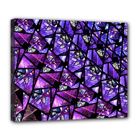 Blue Purple Glass Deluxe Canvas 24  X 20  (framed) by KirstenStar