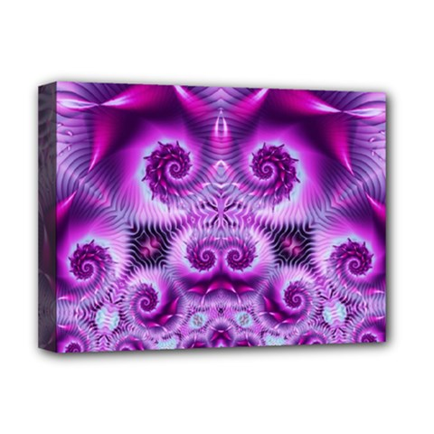 Purple Ecstasy Fractal Deluxe Canvas 16  X 12  (stretched)  by KirstenStar