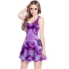 Purple Ecstasy Fractal Reversible Sleeveless Dress by KirstenStar