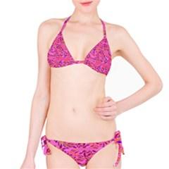 Bright Pink Confetti Storm Bikini by KirstenStar
