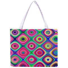 Psychedelic Checker Board Tiny Tote Bag by KirstenStar