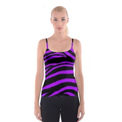 Purple Zebra Spaghetti Strap Top