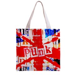 Punk Union Jack Grocery Tote Bag by ArtistRoseanneJones