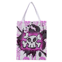 Cartoon Skull  Classic Tote Bag by ArtistRoseanneJones