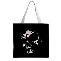 Gothic Skull Grocery Tote Bag by ArtistRoseanneJones