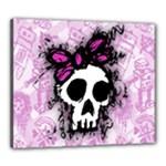 Sketched Skull Princess Canvas 24  x 20  (Framed)
