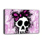 Sketched Skull Princess Deluxe Canvas 18  x 12  (Framed)