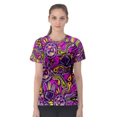 Purple Tribal Abstract Fish Women s Sport Mesh Tee by KirstenStar