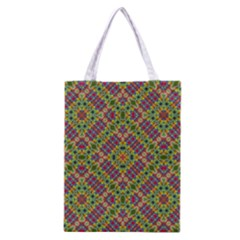 Multicolor Geometric Ethnic Seamless Pattern Classic Tote Bag by dflcprints