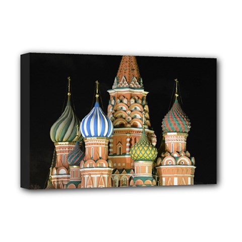 Saint Basil s Cathedral  Deluxe Canvas 18  X 12  (framed) by anstey