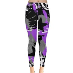 Purple Scene Kid Leggings  by ArtistRoseanneJones