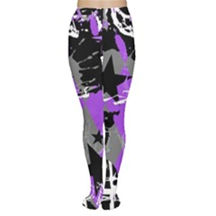 Purple Scene Kid Tights by ArtistRoseanneJones