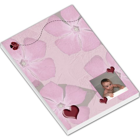 Ladybug Hearts Large Memo Pads By Chere s Creations   Large Memo Pads   802getanidkd   Www Artscow Com