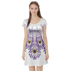 Peacock Short Sleeve Skater Dress by olgart