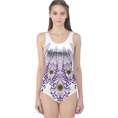 Peacock One Piece Swimsuit by olgart