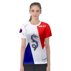 BankSt9-9-2 Women s Sport Mesh Tee by TheDean