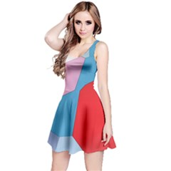 Colorful Pastel Shapes Sleeveless Dress