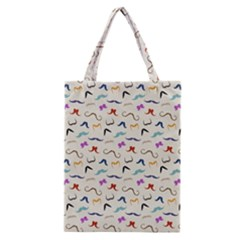 Mustaches Classic Tote Bag by boho