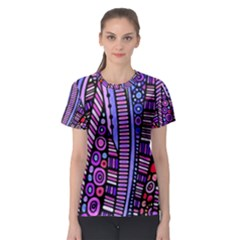 Stained Glass Tribal Pattern Women s Sport Mesh Tee by KirstenStar
