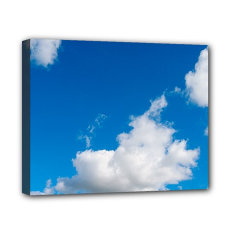 Bright Blue Sky 2 Canvas 10  X 8  (framed) by ansteybeta