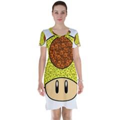 Really Mega Mushroom Short Sleeve Nightdress by kramcox