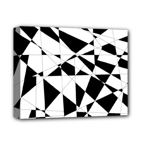 Shattered Life In Black & White Deluxe Canvas 14  X 11  (framed) by StuffOrSomething