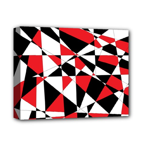 Shattered Life Tricolor Deluxe Canvas 14  X 11  (framed) by StuffOrSomething