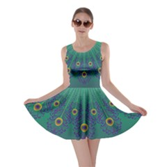 Peacock Emerald Skater Dress by olgart