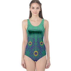 Peacock Emerald One Piece Swimsuit by olgart