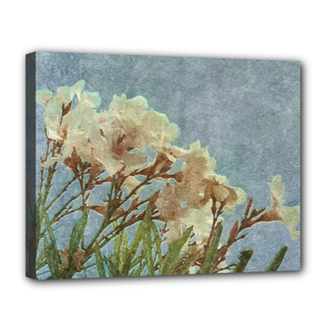 Floral Grunge Vintage Photo Canvas 14  X 11  (framed) by dflcprints