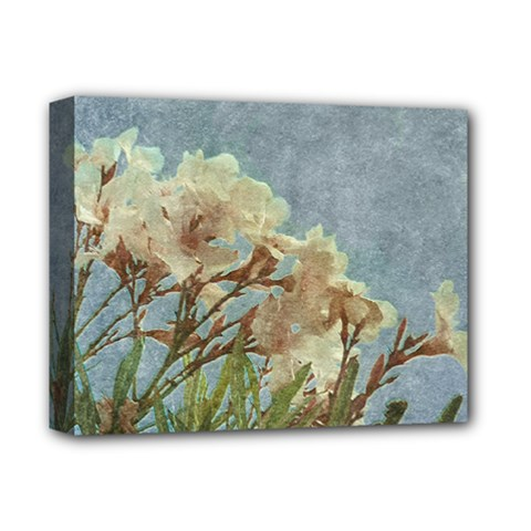 Floral Grunge Vintage Photo Deluxe Canvas 14  X 11  (framed) by dflcprints