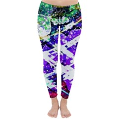 Officially Sexy Purple Floating Hearts Collection Winter Leggings by OfficiallySexy