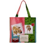 pet - Zipper Grocery Tote Bag