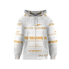 Howarts Letter Kids Zipper Hoodie by empyrie
